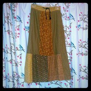 Gypsy Rose Maxi Patchwork Festival Skirt Pockets!